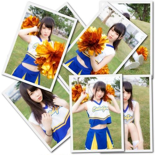 ブロマイド3枚セット チアガール【全8種】(金森 由麻/2014年11月) #BR01601