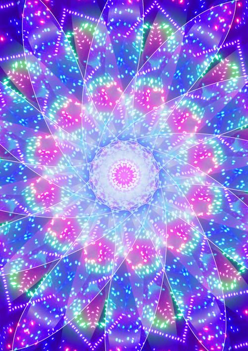 「光の世界」曼荼羅(A4サイズ)