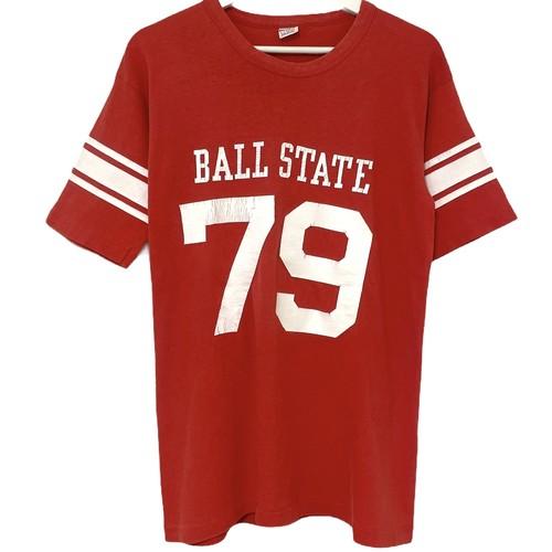 70's Champion Football T BALL STATE 79【XL】