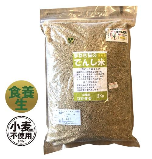 有機栽培の玄米(福岡産)2kg