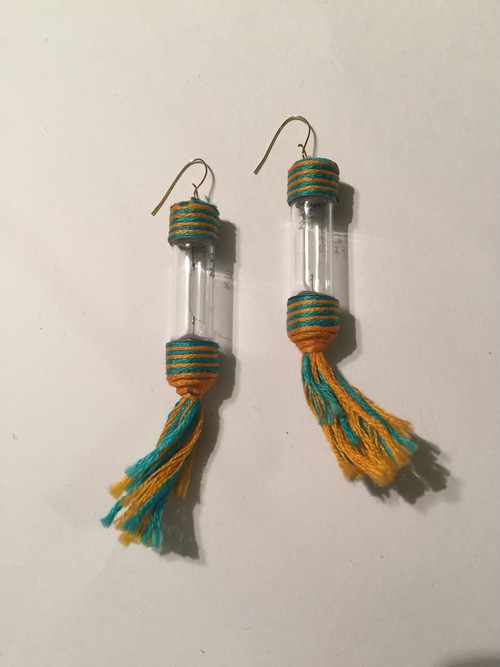 Vintage cleare parts earrings