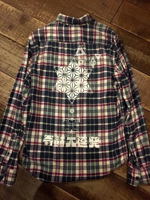 『奇跡大連発』ネルシャツ size S  1点物
