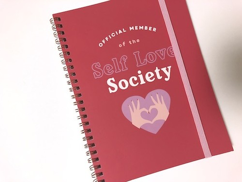 【OFFICIAL MEMBER of the Self Love Society】リングノート/ Typo