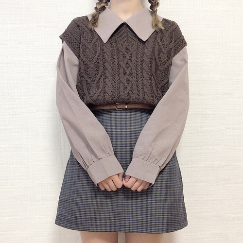 check culotte skirt[S727-20]