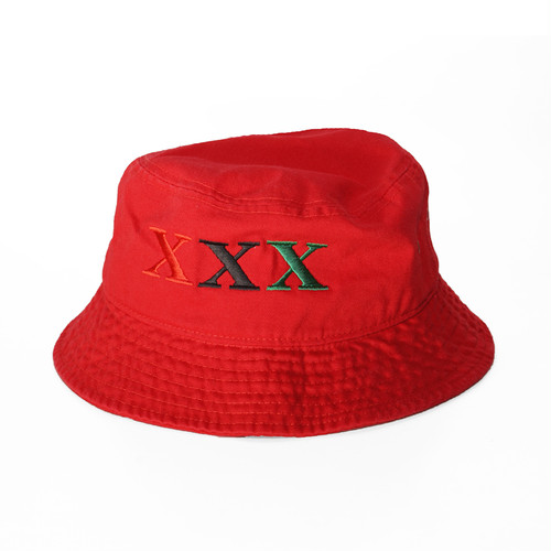 Stay Black Salute XXX BUCKET HAT (RED)