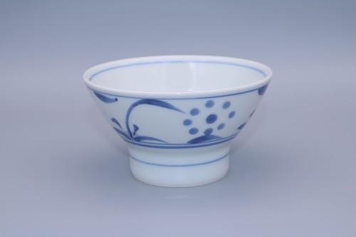 砥部焼 くらわんか茶碗(小) 梅山窯 ゴス太陽