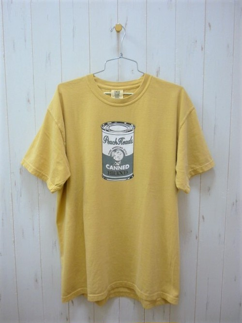 """Peach Heads """"Peach Can"""" About 10th Anniv. T-Shirt Real Used Wash 6.1oz. (ピーチヘッズ ピーチ缶 約10周年 Tシャツ リアルユーズドウォッシュ 6.1オンス)"""