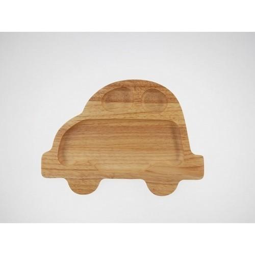 キッズプレート*車*木製食器*子供食事*ナチュラル自然