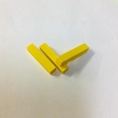 黄25mm木製スティック(約150個)