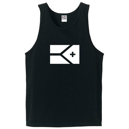 KYUS BIG FLAG タンクトップ(ブラック×ホワイト)
