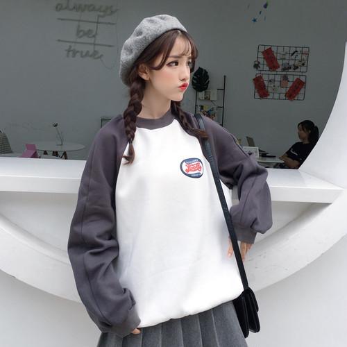 【トップス】素晴らしい生地ルーズ裏起毛長袖韓国風パーカー