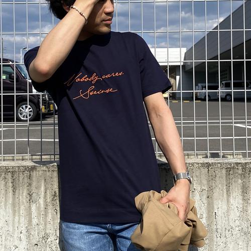SSEINSE/センス ロゴ刺繍Tシャツ TE1791SS