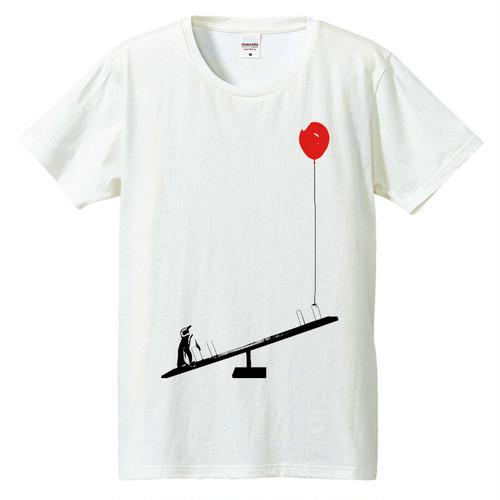 [Tシャツ] ペンギンと風船とシーソー