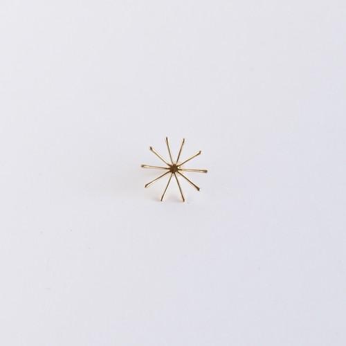 【Pierce Earring】Leaf / Line L gold
