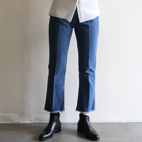 PHEENY【 womens 】vintage denim center press pants