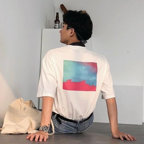 グラフィックプリントTシャツ BL8486