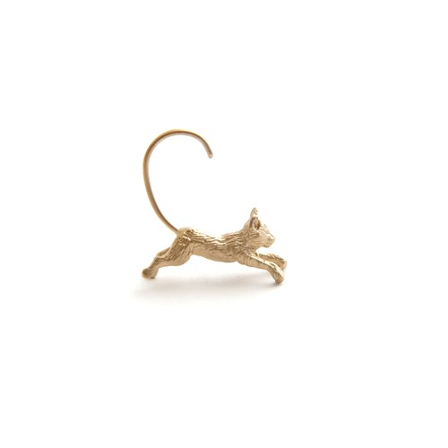 simmon/Cat Body Hook Pierce_Gold(片耳)