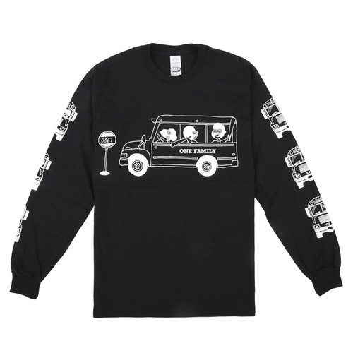 One Family Co.×0867 / Long Sleeve T-Shirt / School Bus / Black