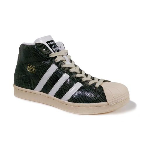 "adidas / Pro Model Vintage ""Snake Skin"" Black/White/Mt.Gold"