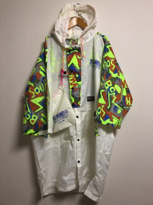90's KiRORO ski resort black light nylon coat
