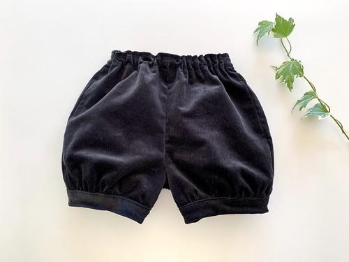 コーデュロイのかぼちゃパンツ・コーデュロイ黒 80cm
