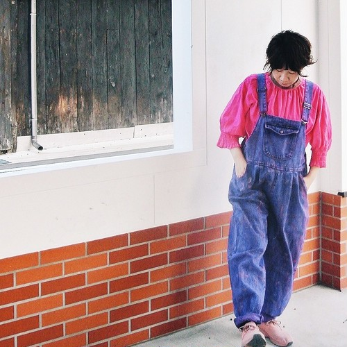 post-vintage 2018 A/W overall dyed by nonco.