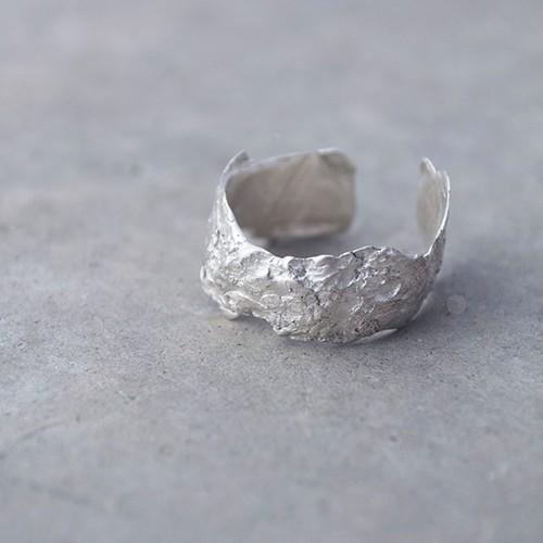 山桜の樹皮リング(S)silver