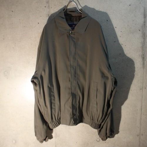 Smooth Fabric Gray Blouson