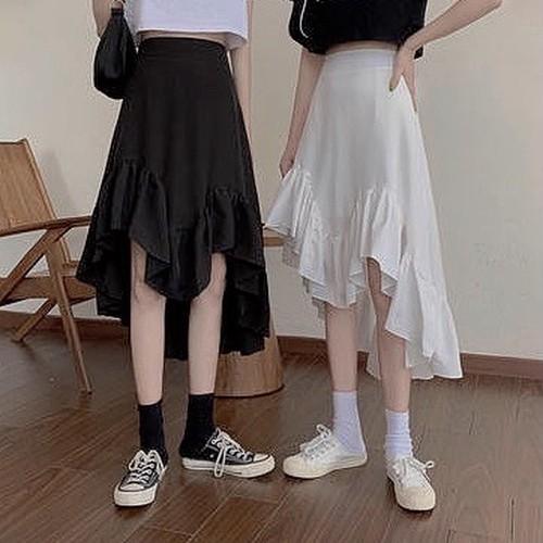 asymmetry skirt 2 color