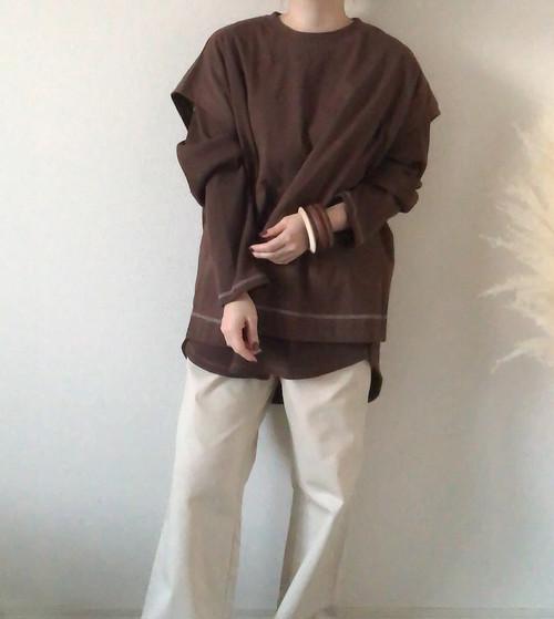 【brown】サーマルトップスセット