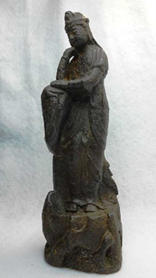 中国敦煌・観音像(鉄製)