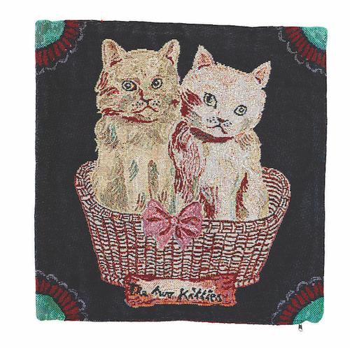 Nathalie Lete Cushion cover -Two kitties- ナタリーレテ クッションカバー