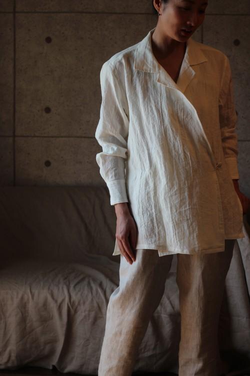 Linen shirt リネン-オープンカラーシャツ