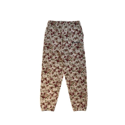 FLOWER CANVAS PANTS (JAPAN MADE) / WHITE