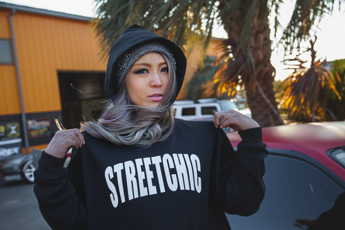 "StreetChic ""Impress"" HOODIE[BLACK/WHITE LETTER]"