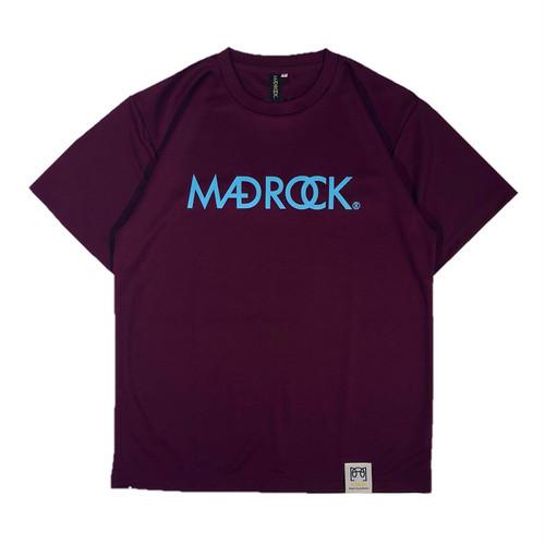 新色 マッドロックロゴ Tシャツ/ドライタイプ/パープル&サックス