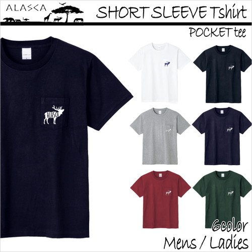 SHORT SLEEVE Pocket Tshirt moose as-05