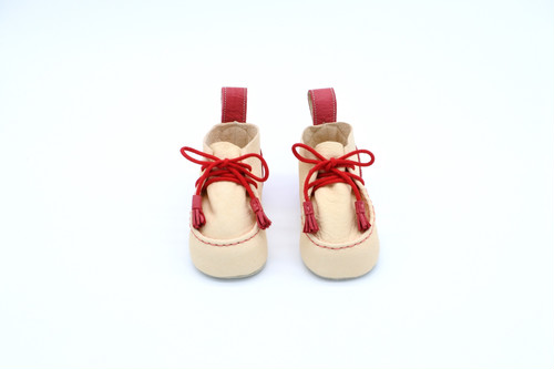 "Baby shoes tanned Yezo deer ""type red"""