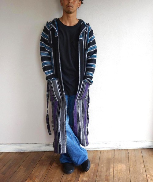"""BAJA ROBE"" Blue×Purple size:ONE SIZE"
