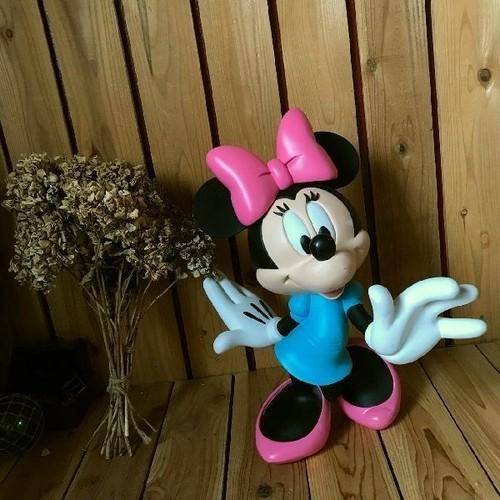 ≫希少ヴィンテージ*Disneyディズニー*古いミニーマウスの大きなキャラクタードールH46cm*大型フィギュア特大人形*置物ビンテージオブジェ