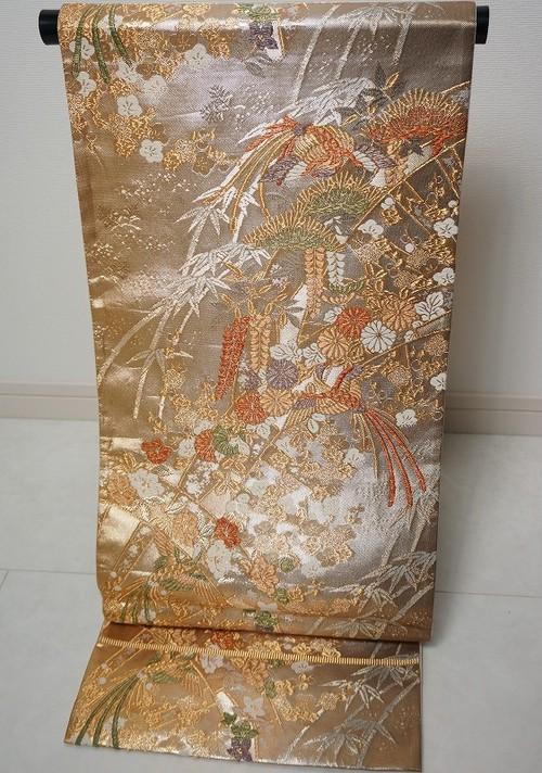 佐賀錦 藤 菊 鳳凰 袋帯 金銀糸 139