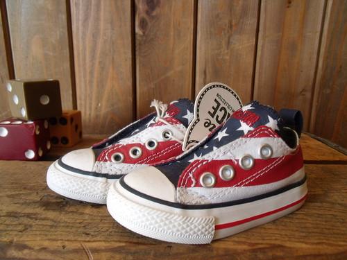 CONVERSE★【CHILD ALL STAR】< US FLAG SLIP OX>