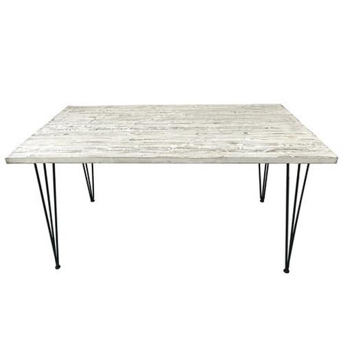 【直送】アトリエにぴったりな西海岸風古材テーブル ホワイト