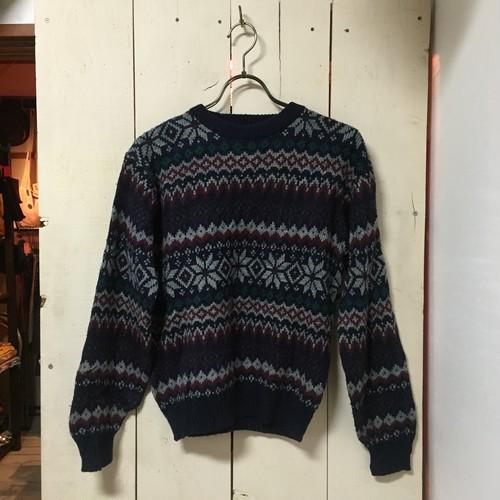 U.S.A 総柄セーター