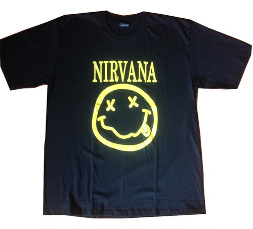 ニルヴァーナ Nirvana スマイルロゴ/smile logo プリントTシャツ