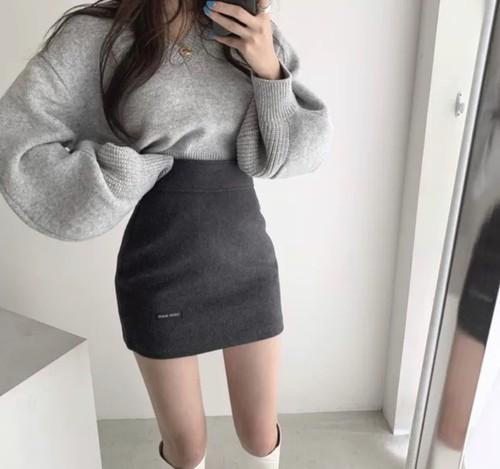 highwaist tight skirt