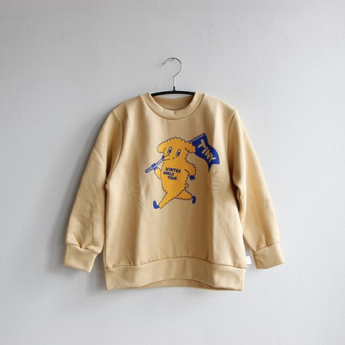 《TINYCOTTONS 2020AW》DOG SWEATSHIRT / cappuccino × yellow