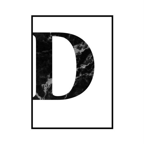 """D"" 黒大理石 - Black marble - ALPHAシリーズ [SD-000505] B4サイズ ポスター単品"