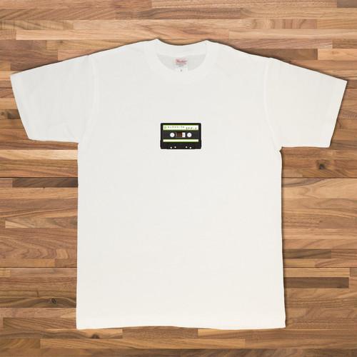 カセットテープ Tシャツ/ホワイト【CWE-061WH】