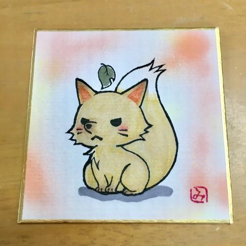 【芸人怪奇倶楽部】kt3 色紙 狐